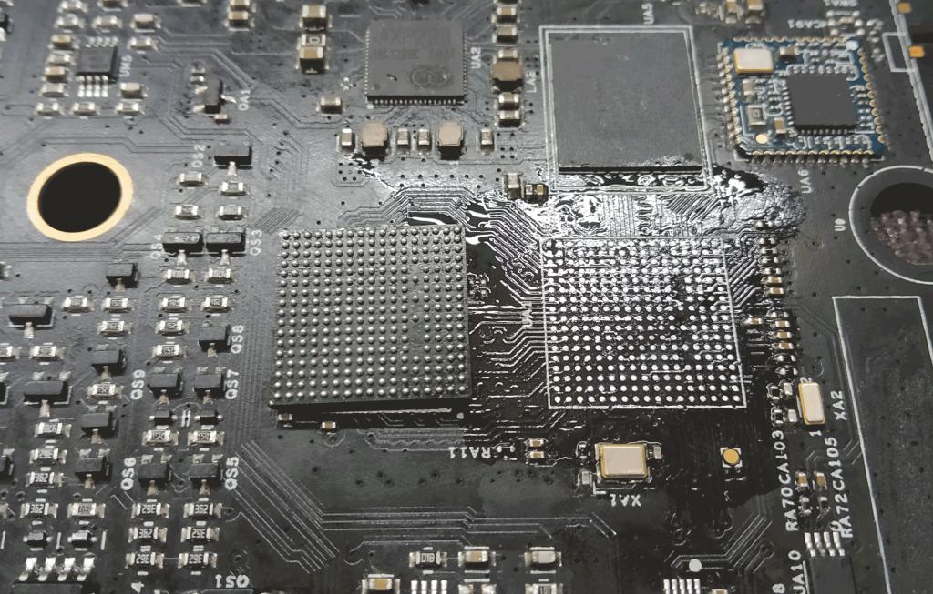 Замена, реболлинг микросхем робота-пылесоса.